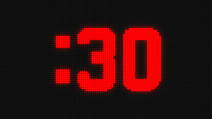 Red Sports Shot clock countdown from 30
