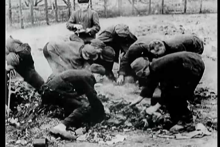 1940s - Footage of Meppene Nazi Concentration Camp victims.