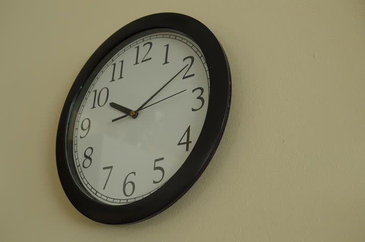 Analogue Clock On The Wall Time Lapse Stock Footage Video 3924035 |  Shutterstock