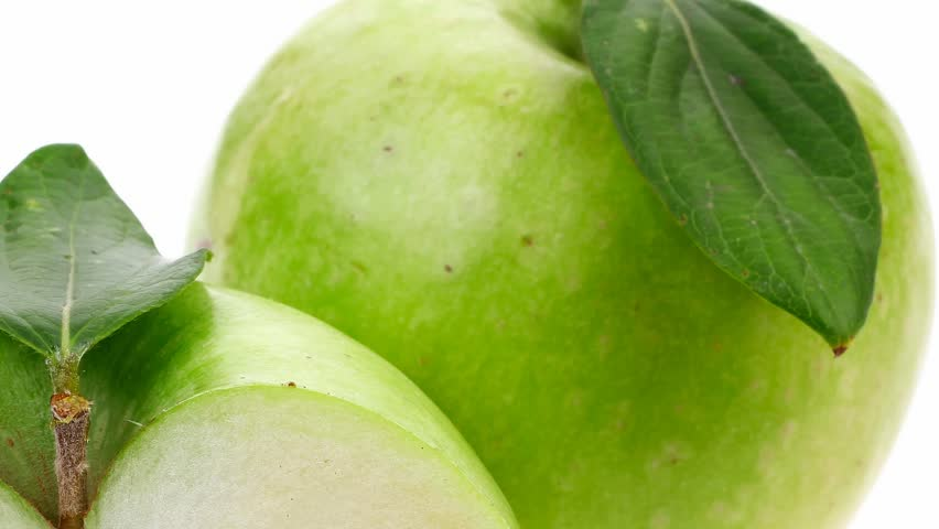 green fresh ripe apple with half 1920x1080 intro motion slow hidef hd