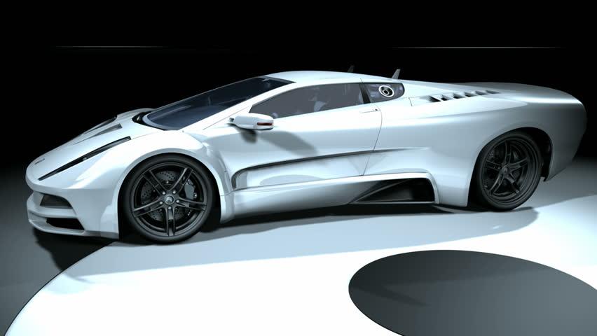 3D Sport Car - 1080p | Shutterstock HD Video #393322