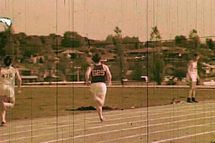 1970s - Montage of High School Track & Field meets.