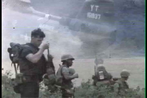 1960s - On the ground troop combat footage in Vietnam War in 1966.