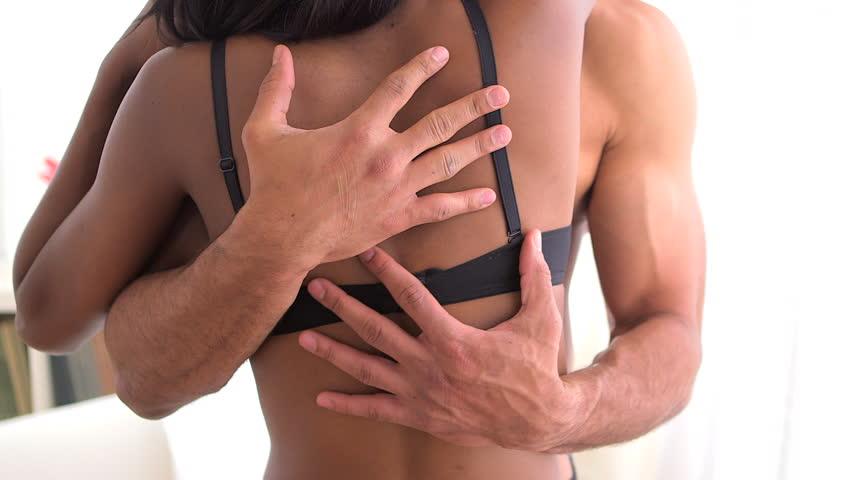 Intimate black couple