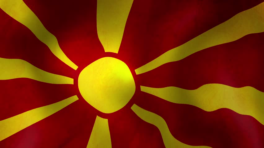 Flag Of Macedonia Back...