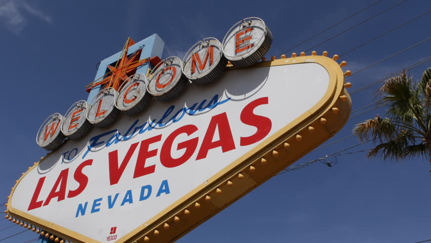 Welcome to Fabulous Las Vegas Nevada Sign, Las Vegas Strip, USA, by day | Shutterstock HD Video #3972595