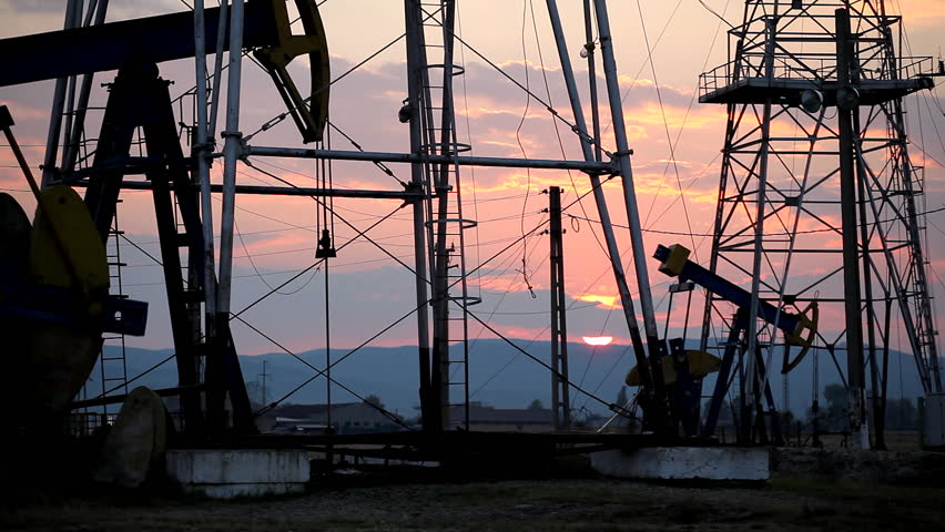 Dusk, Twilight, Fossil Fuel Energy, Oil Pump, Pumpjack, Old Pumping