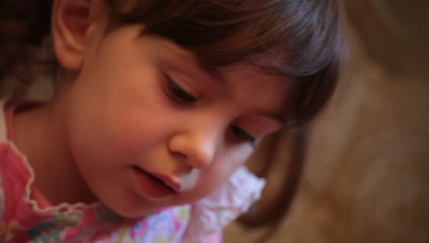 Indoor portrait of Little baby girl.  | Shutterstock HD Video #3977185