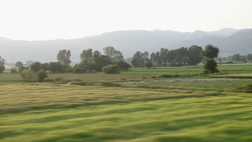 Window View from a Car, Bus, Train. Traveling HD videos - No19