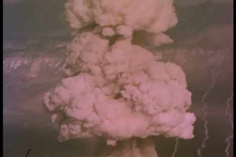 1960s - Mushroom clouds of various atomic ground bursts