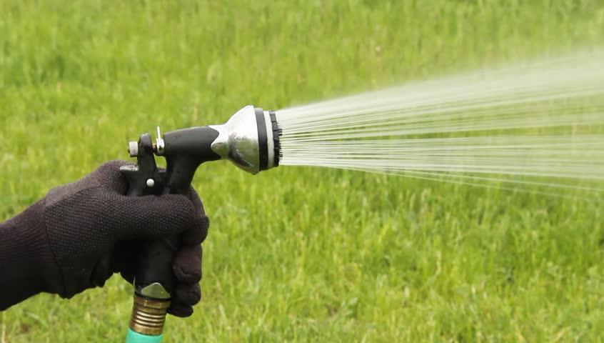 Garden Hose Sprayer Spraying Water Stock Footage Video 4010134 |  Shutterstock
