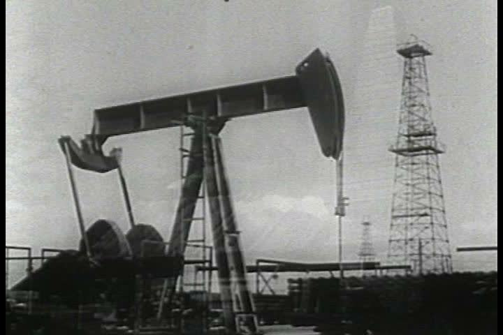 1950s - Newsreel feature: Historical reenactment of events surrounding the first oil well in Titusville, Pennsylvania - Part 2 of 2