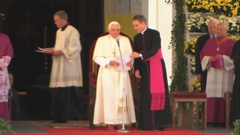 ITALIA, South Tyrol - AUGUST 2008 – Pope Benedict XVI to vacation with his brother in the northern Italian town of Bressanone.