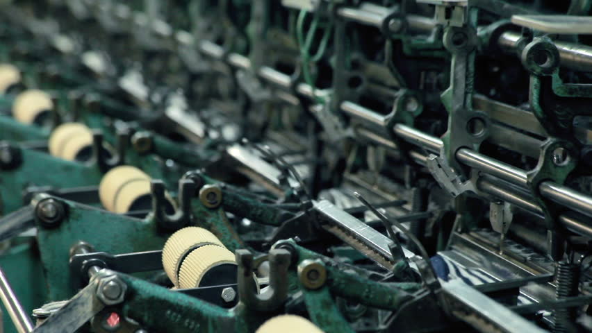 Fabric Production At Textile Factory Clothing Production