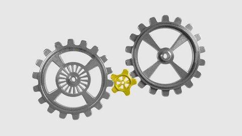 Cogwheels - Animation - Gold