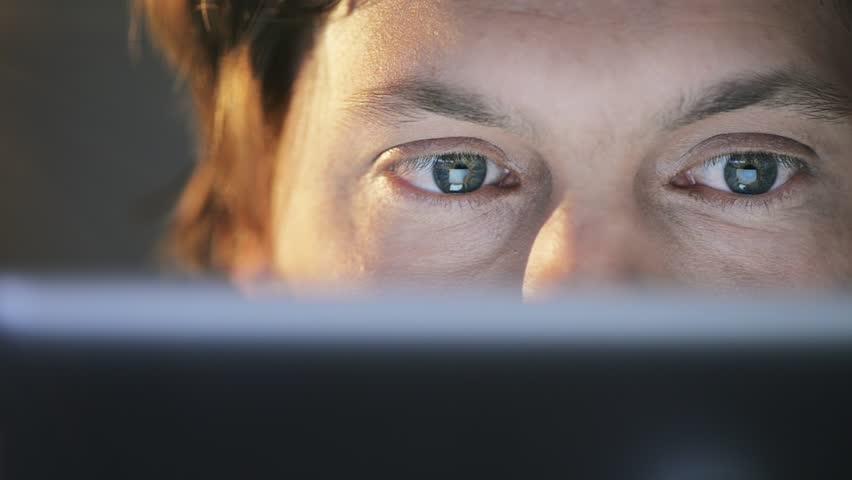 Man using tablet computer touchscreen close-up touching ipad | Shutterstock HD Video #4069093