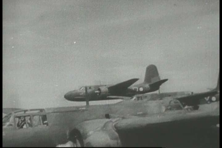 1940s - Newsreel story: Bismarck sea victory - SD stock video clip