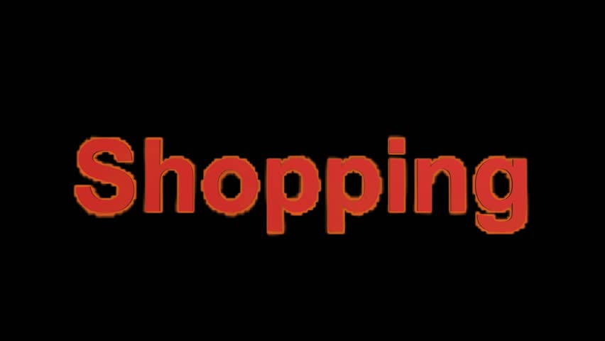 Flame Shopping Word,fire Text. Stock Footage Video 4134658 ...