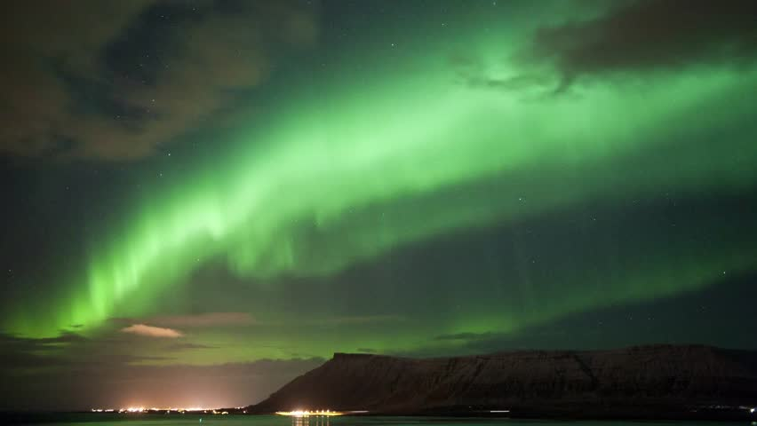 Time laps from the Aurora Borealis over Iceland in march 2013 #4132123