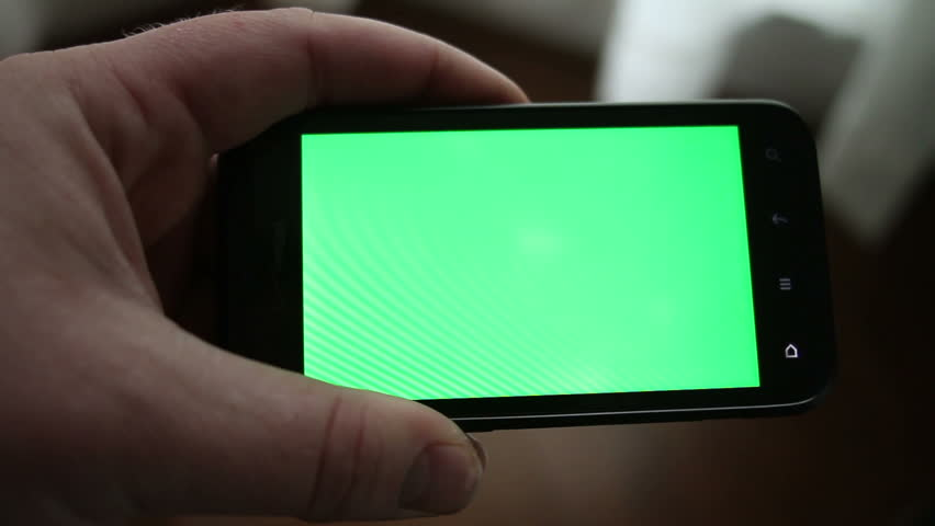 Using a Smart Phone with a Green-Screen | Shutterstock HD Video #4154365