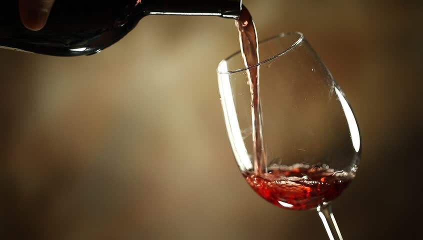 Stock Video Clip of Pouring red wine into glass | Shutterstock