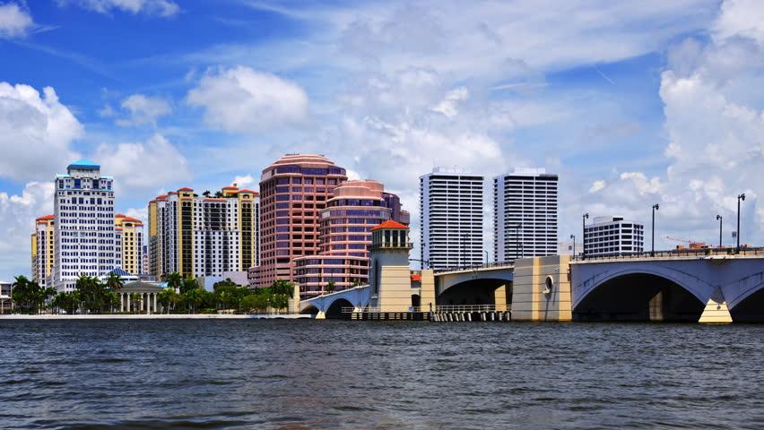 Downtown West Palm Beach, Florida.