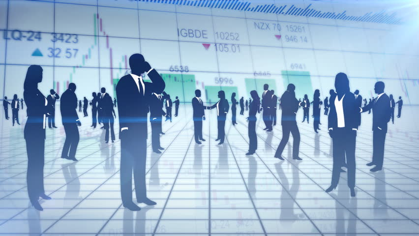 Stock Video Of Silhouettes Business People With Chart