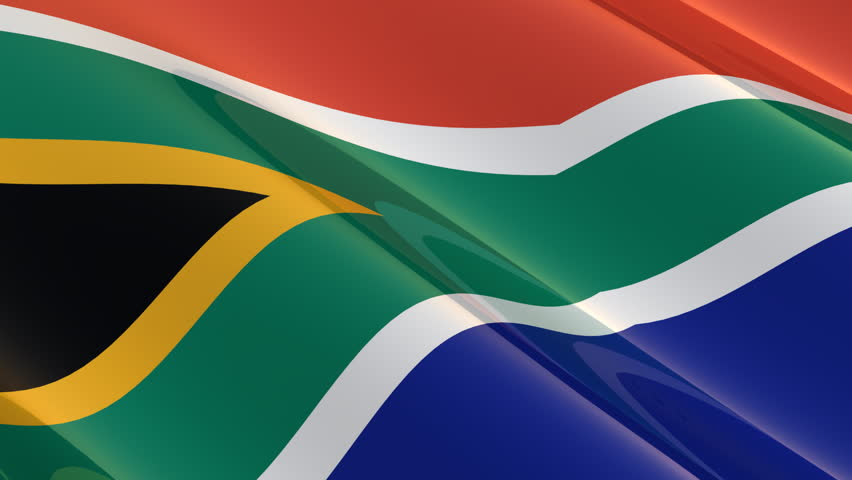 Seamless flag of South Africa waving in the wind