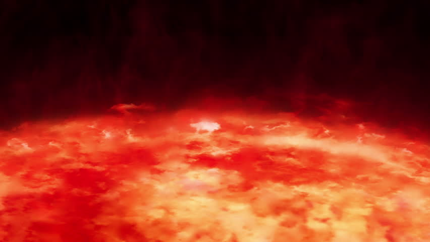 Highly realistic sun surface with flares.  2 shots in 1 file. Red. More options in my portfolio. | Shutterstock HD Video #4189795