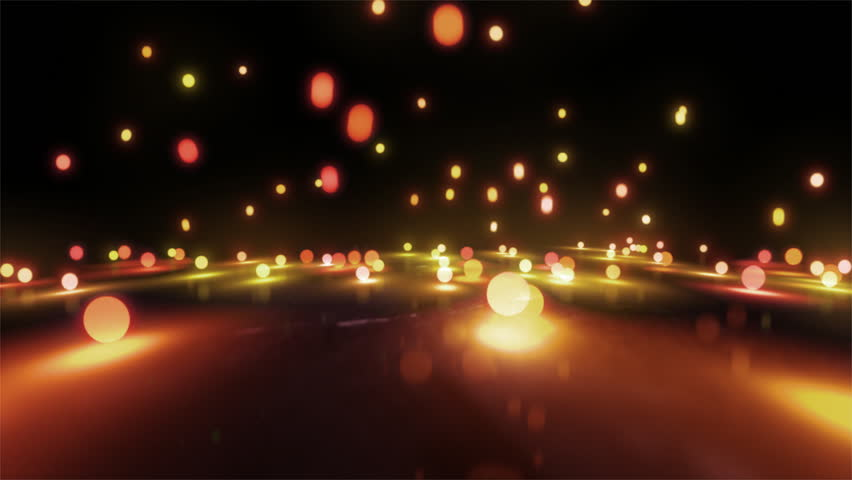 Colorful Light Balls Background Can Stock Footage Video 100
