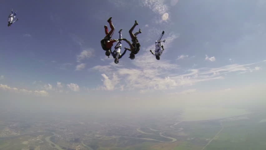 Skydiving video slow motion.