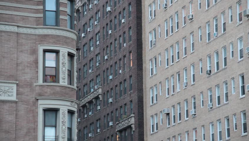 NYC Apartment Buildings On Upper West Side   HD Stock Footage Clip