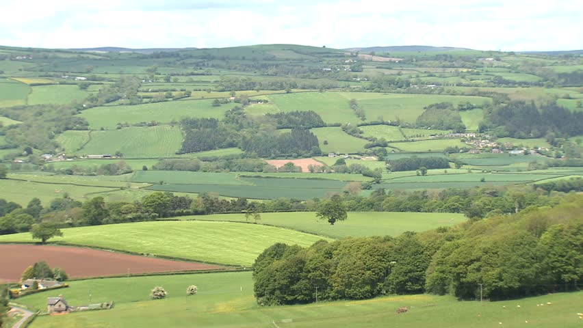 Countryside view - HD stock footage clip