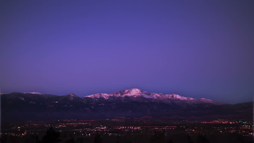 Pikes Peak Sunrise Timelapse in Colorado Springs, Colorado