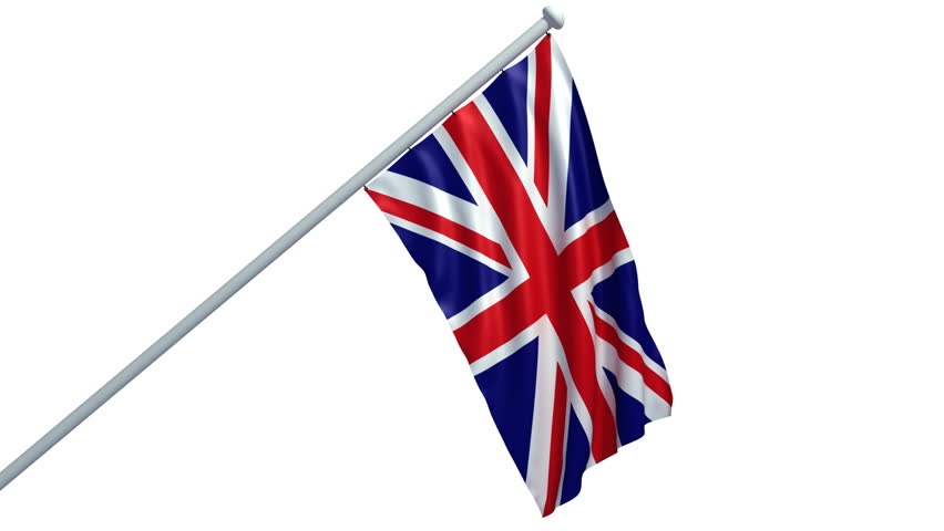 3d animation of union jack