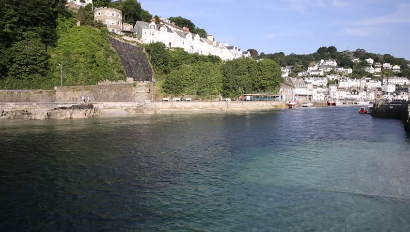 Looe Cornwall England fishing port and harbour in this beautiful Cornish town on a sunny day
