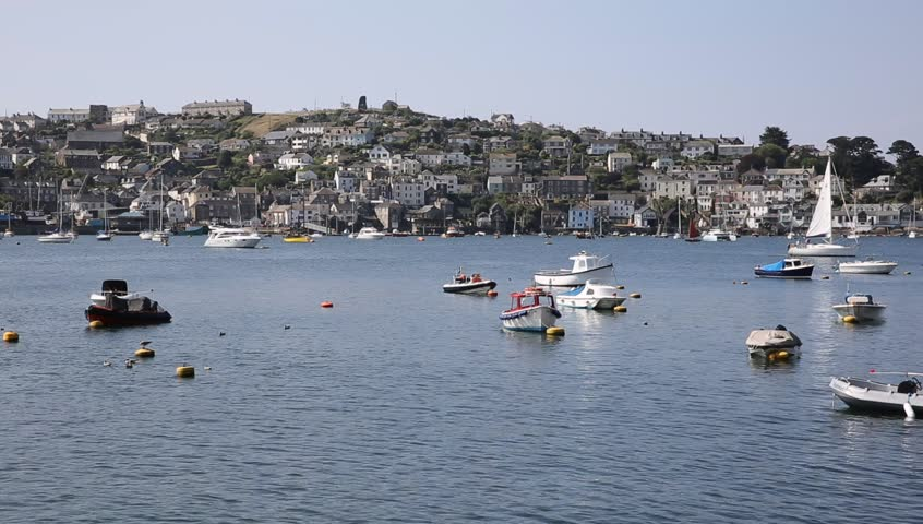 Fowey Cornwall England near St Austell and Polruan on a beautiful summer day