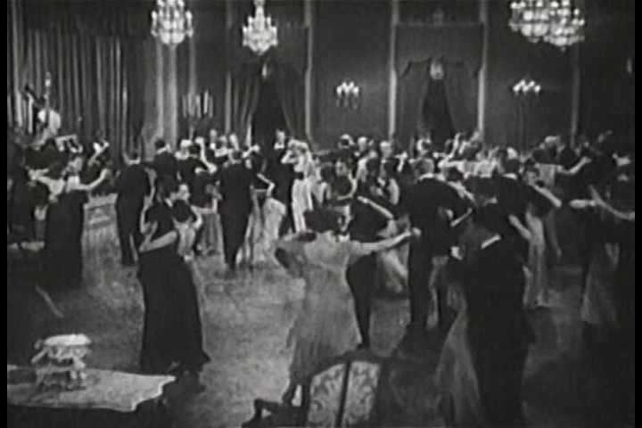 1930s - The Duke Ellington orchestra plays in a formal ballroom in 1930.