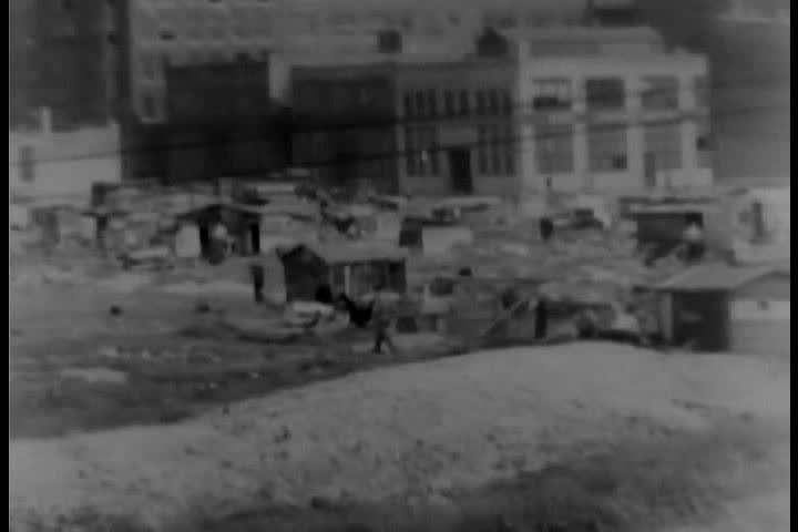 1930s - The slums of Chicago in 1931.