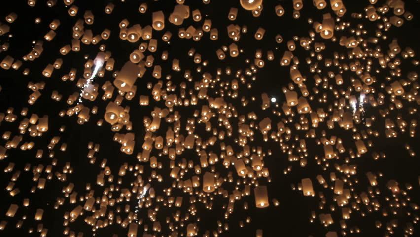 Loi Krathong festival in Chiang Mai Thailand  #4327925