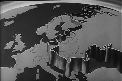 1950s - The iron curtain falls across the Soviet Union and the slave world of Communism is explained in the 1951 propaganda film.