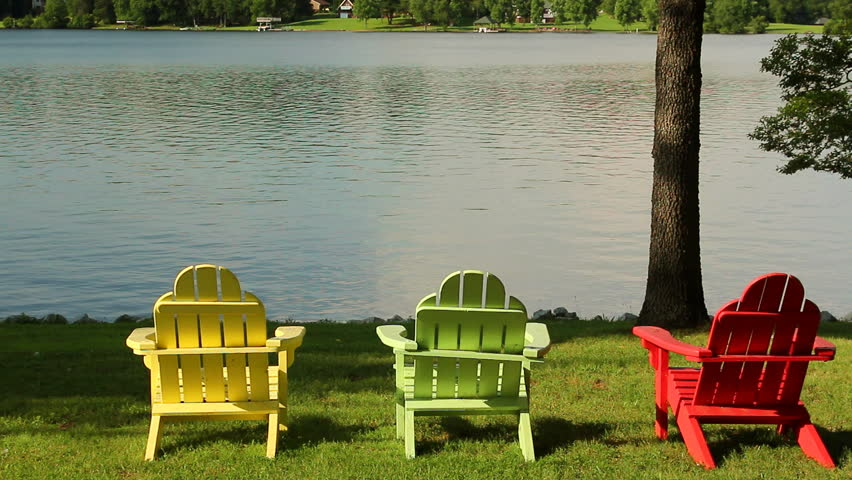 Three Colorful Adirondack Chairs Overlook Stock Footage Video (100%  Royalty-free) 4338755   Shutterstock