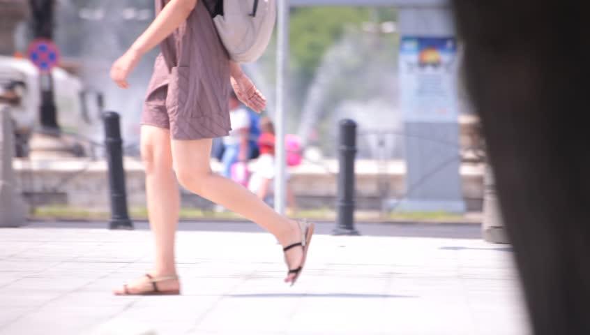 Walking street naked down girl
