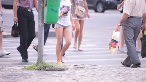 Hot Sexy Legs of Young Stock Footage Video (100% Royalty-free