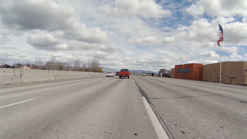 Car Driving Interstate Freeway Stock Video, Footage - Car