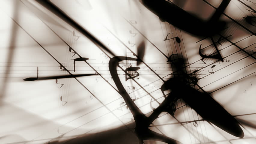 Music notes classic colors looping animated background  | Shutterstock HD Video #4399643