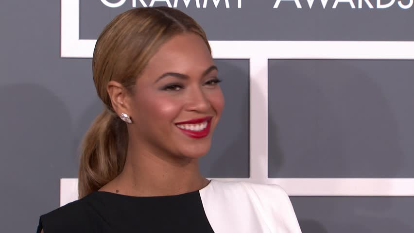 LOS ANGELES - February 10, 2013: Beyonce Knowles at the Grammy Awards 2013 in the Staples Center in Los Angeles February 10, 2013