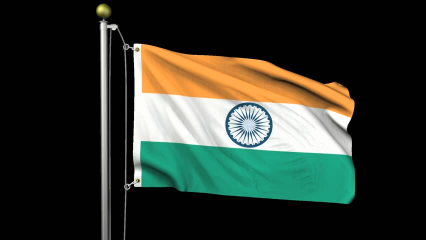 Indian Flag Animated: Indian Flag Stock Footage Video