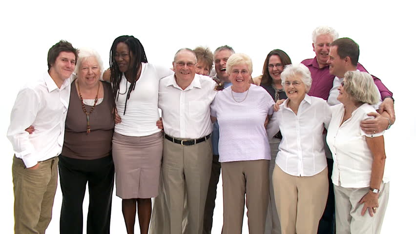 Group Of Senior People Coming Stock Footage Video 100