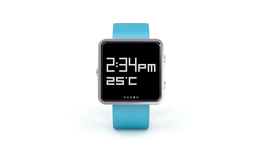 Smartwatch rotates on white background | Shutterstock HD Video #4521905